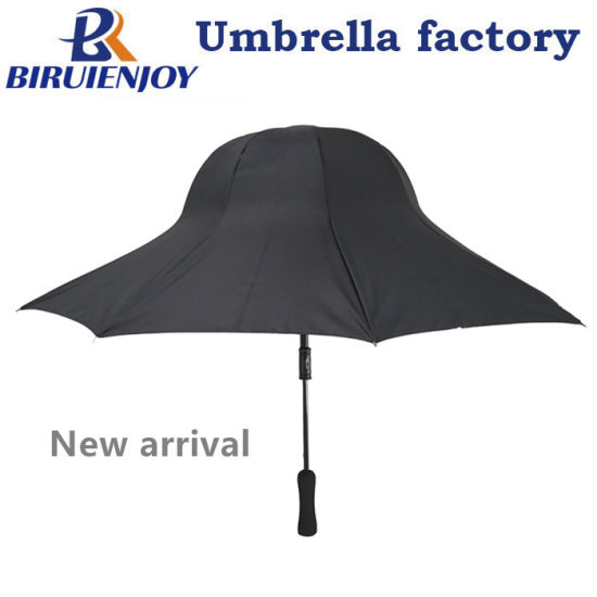 Newest Design Hat Shape Rain Sun Straight Umbrella for Women Lady