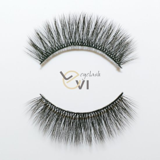 e22d1f9d2ce Qingdao Factory Natural Looking Synthetic Hair Fashion Black False Eyelash