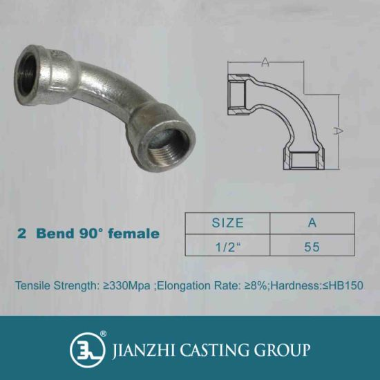Malleable Iron Pipe Fitting Bends pictures & photos