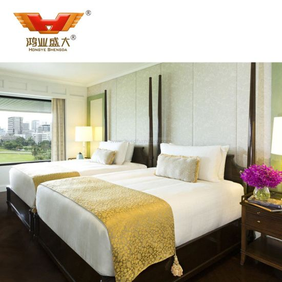 Modern Double Room Set Hotel Furniture (HY-013)