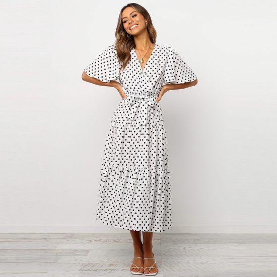 Summer Leisure DOT Dress Printed Casual Dress Fashion Women Clothes