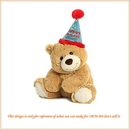 Fluffy Birthday Bear Birthday Gift Customized Baby Companion