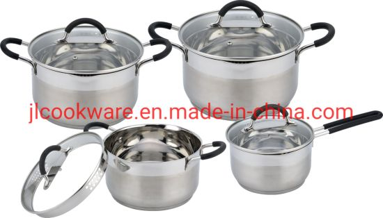 Stainless Steel Cooking Pots and Pans Cooking Set