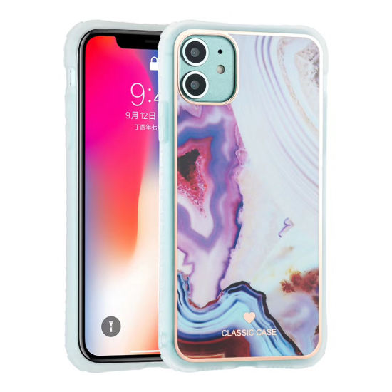 Mobile Phone Case for iPhone12 TPU Marble IMD Cover OEM/ODM