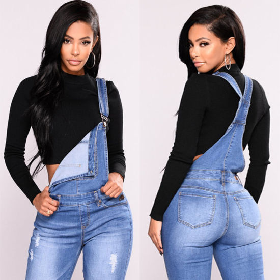 Xqm Trendy Booty Lifting Jeans Jump Suit for Women Jeans Overall