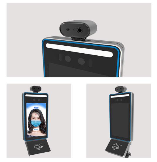 "8"" Facial Recognition Temperature Measuring Terminal Device Door Entry Access Control System"