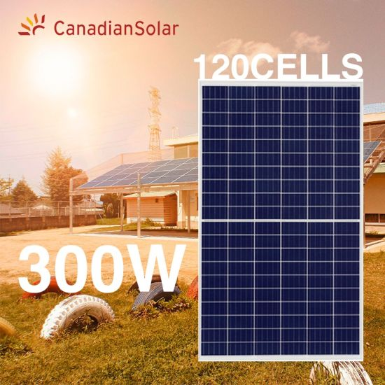 China Suppliers Canadian Energy Solar Panel Polycrystalline Half Cell 120 Cells 300W Panels Solar