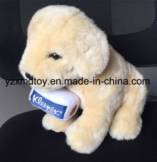 Plush Stuffed Dog with Custom Logo Bucket pictures & photos