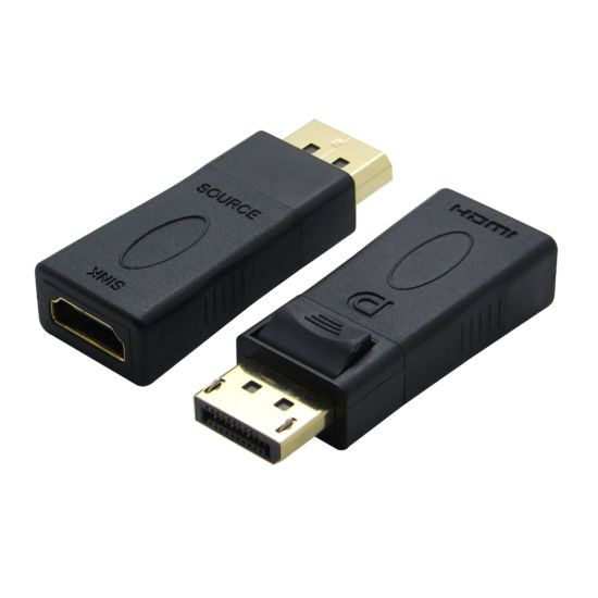 Black Gold Plated Displayport to HDMI Adapter 1080P