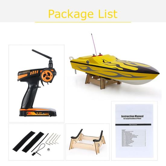 225bl026ap-Original Challenger 1300bp (Flame) Fs-Gt2 2.4G Transmitter High Speed 60km-H Electric RC Racing Boat pictures & photos