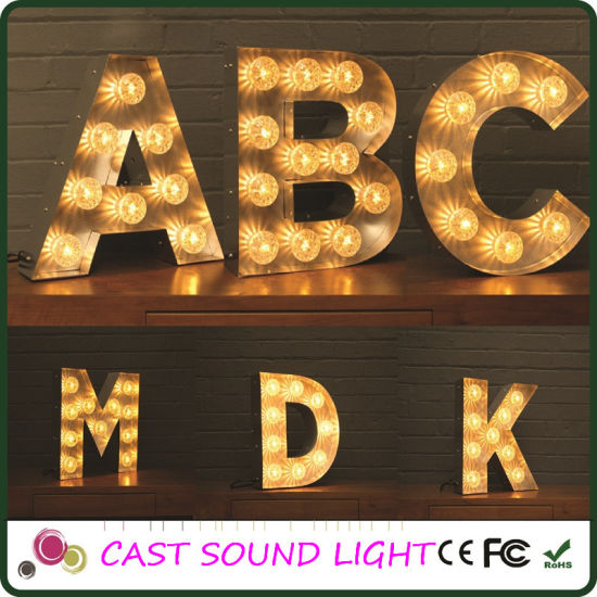 Fashion LED Marquee Letter Sign Christmas Lighting pictures & photos