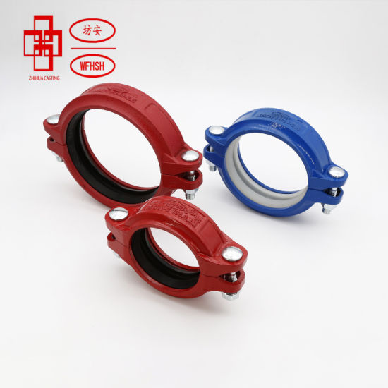 Ductile Iron Grooved Pipe Fittings Rigid Couplings/ Angle Pad Couplings for Aboveground Fire Protection Systems