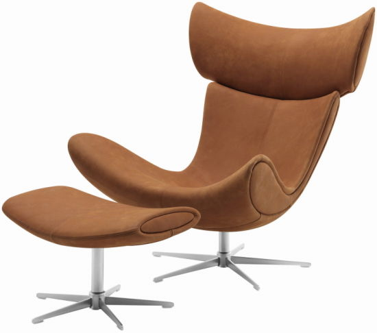Fiberglass Designer Leather Egg Chair
