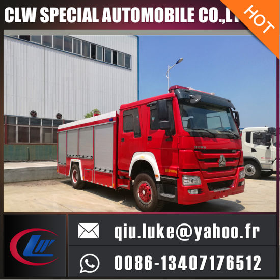 HOWO 12000L Water Tank Fire Truck pictures & photos