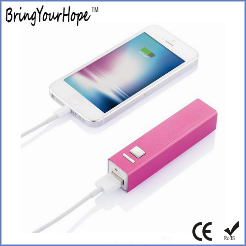 2600mAh Metal Portable Battery Charger (XH-PB-003) pictures & photos