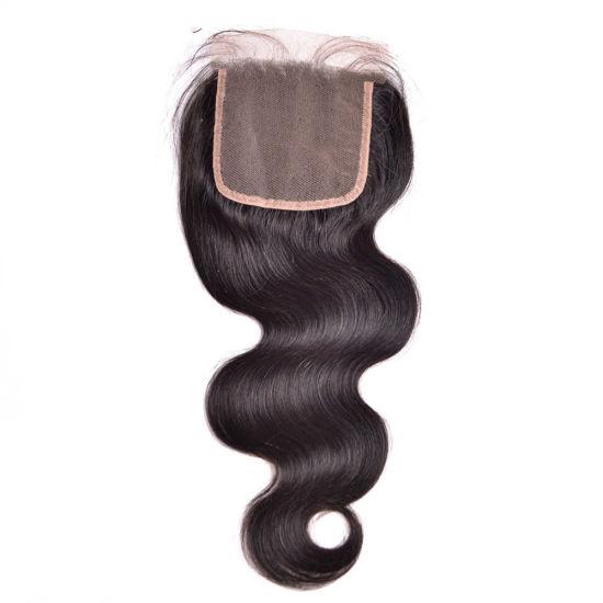 4*4/'/' Lace Top Closure 100/% Brazilian Virgin Hair BodyWave Straight 7A Quality