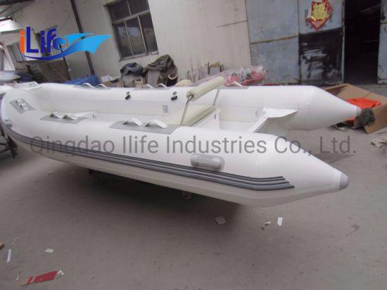 Ilife (CE) 14FT 4.3m 7 Persons Popular Rib Boat Fiberglass Rowing Boat Hot Sale