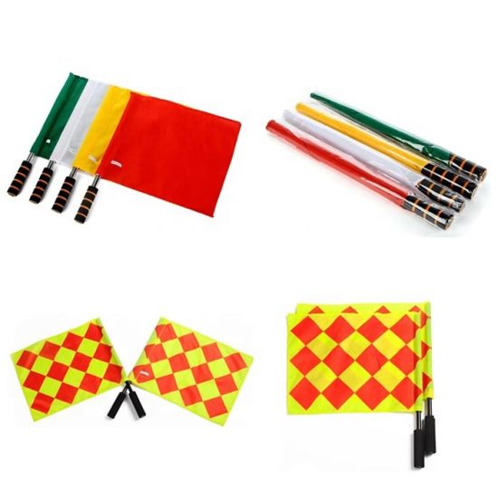 Promotion Linesman Outdoor Field Sports Hand Held Referee Beeper Flag pictures & photos