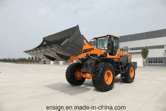 Factory Supply Ensign 5 Ton Wheel Loader Yx656 with Joystick, A/C and 3.0 M3 Bucket pictures & photos
