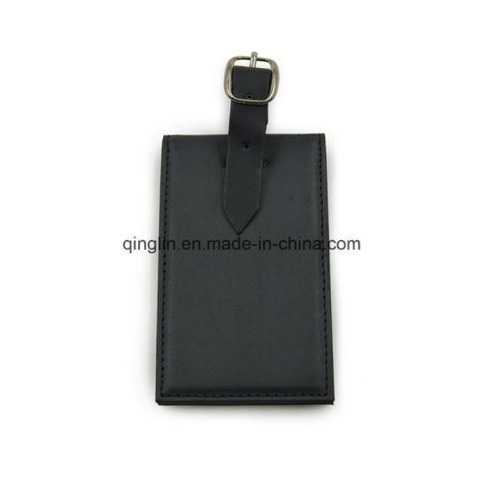 Unique Design Blank PU Leather Luggage Tag pictures & photos
