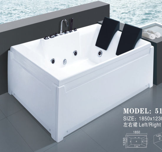 Factory Outlet Sanitary Ware Acrylic Jacuzzi Massage Bathtub (517) pictures & photos