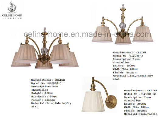Decorative Iron Chandelier with Three Lights (SL2088-3) pictures & photos
