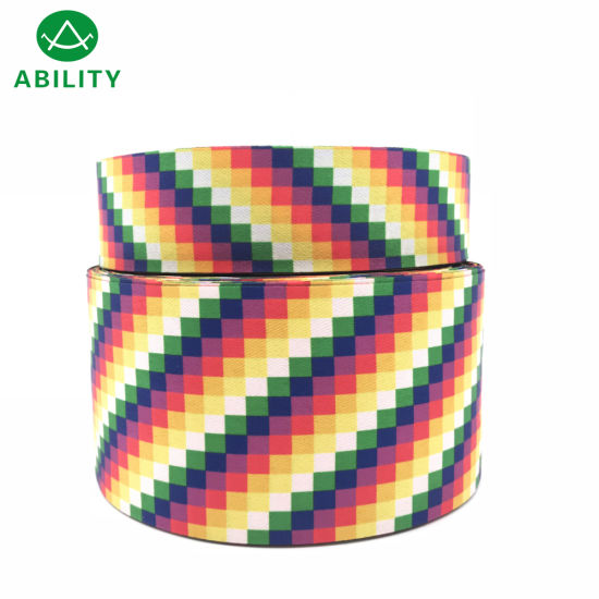 2019 New Design Hot Sale Two Sides Jacquard Webbing Tape with Soft Hand Feeling