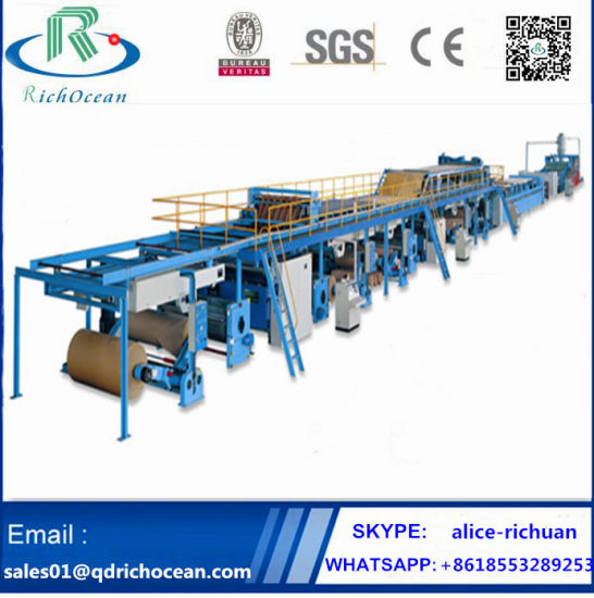 High Speed Auto Corrugated Carton Box Paperboard Production Line