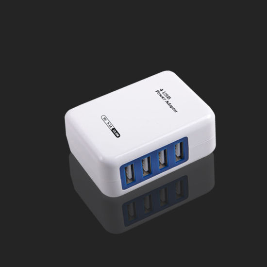Easy Carry Folding Travel Charger 4 Port USB Wall Chargers pictures & photos