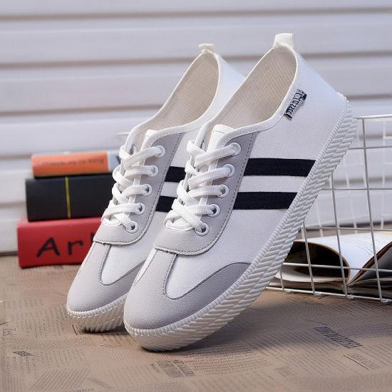0406ed26be49 Classical Hotsale White Canvas Shoes  Wholesale Ladies Shoes Women  Platforms Shoes pictures   photos