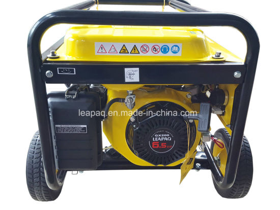 2.5kw Electric Start Portable Gasoline Generator pictures & photos