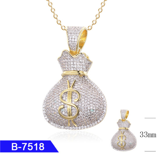 Fashion 925 Sterling Silver Hip Hop Jewelry Cubic Zirconia Iced out Rapper Pendant Charms for Men pictures & photos