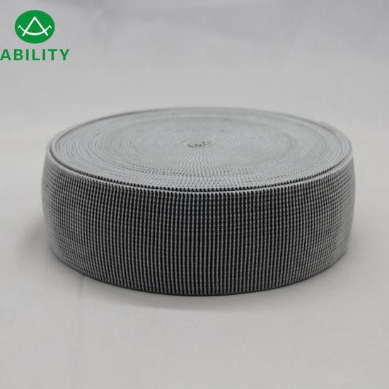 5cm Polypropylene Polyester Nylon Juacquard Elastic Sofa Tape