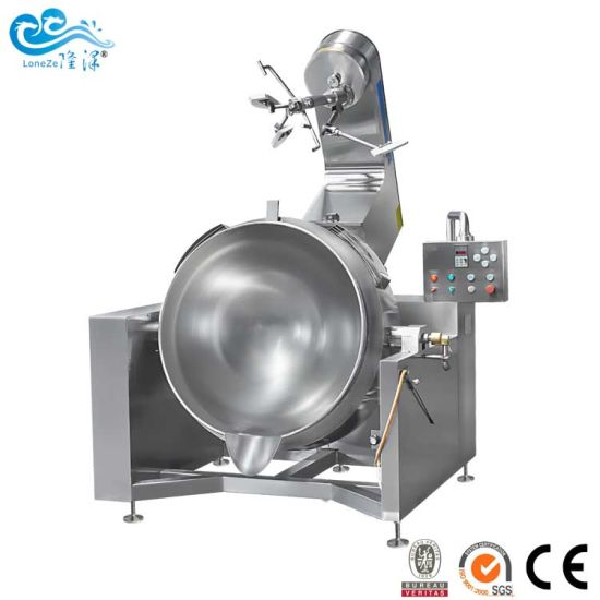 China Factory Industrial Gas Heating Cooking Mixer for Stirring Jam Corn Paste with Best Price Approved by Ce SGS