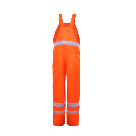 2018 Manufacturer OEM Wholesale Clothing Safety Bib Pants H-Vis Overall Workwear