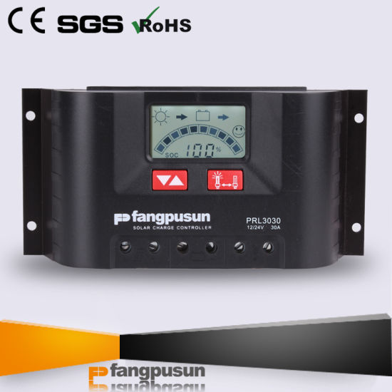 Ce RoHS 30AMP Solar Home System LCD Display 12V 24V Hybrid Solar Charge Controller with Backgroud Light