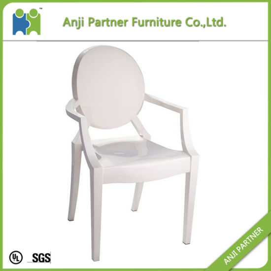 Pure Fully White Polycarbonate Plastic Dining Chair (Melor) pictures & photos