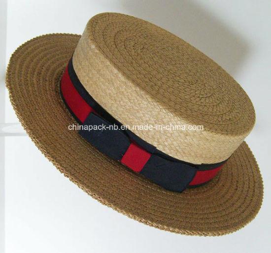 China 100%Paglia Italian Straw Boater Hats (CPA 80051) - China Straw ... c6c9c2aef3fe