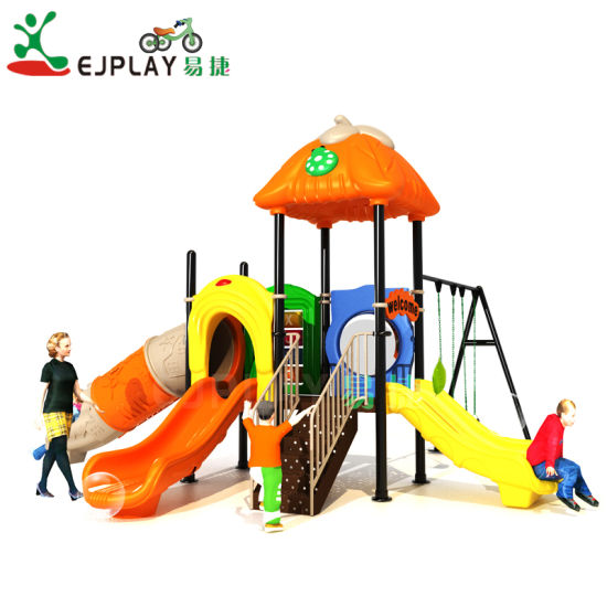 Plastic Slide Type Plastic Swing and Slide Sets Kids Playground Outdoor