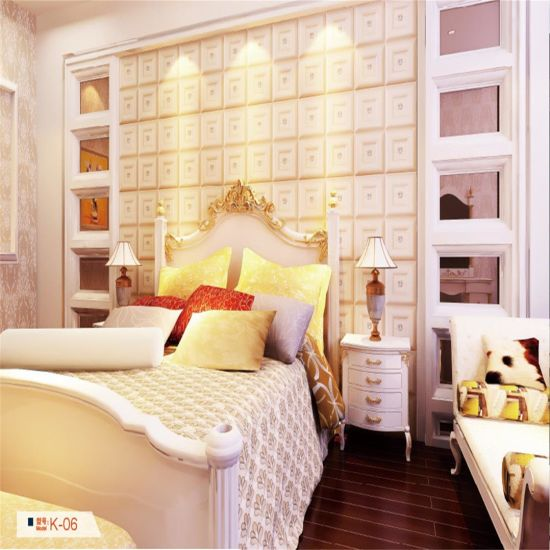 Luxu Bed Room Decorative 3D PU Leather Wall Panel