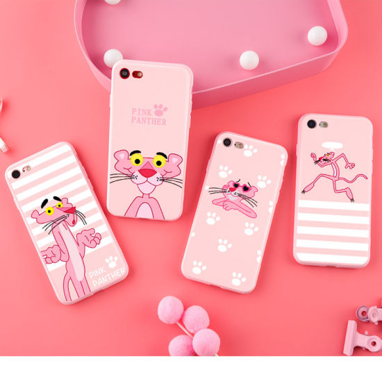 Pink Panther TPU Relief Mobile Phone Cover Case for iPhone Oppo R9 R11 pictures & photos