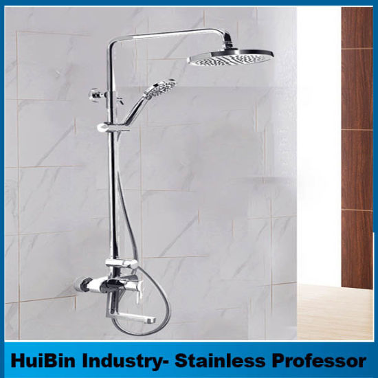 Shower Faucet Set, Bathroom Rainfall Shower System Rain Mixer Shower Head  With Handheld Combo Set For Wall Mounting