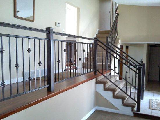 China Products Iron Balcony Metal Stair Handrail for House