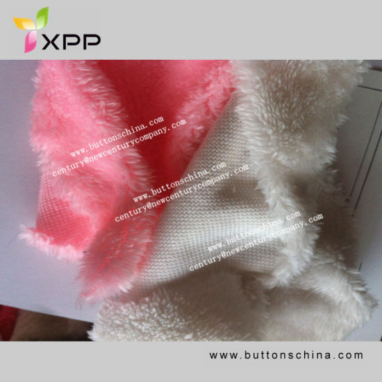 Solid Knitted Polyester Sherpa Fur Fabric pictures & photos