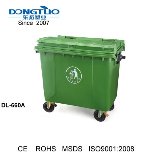 Plastic Outdoor Wastbin Dustbin With Wheel And Lid