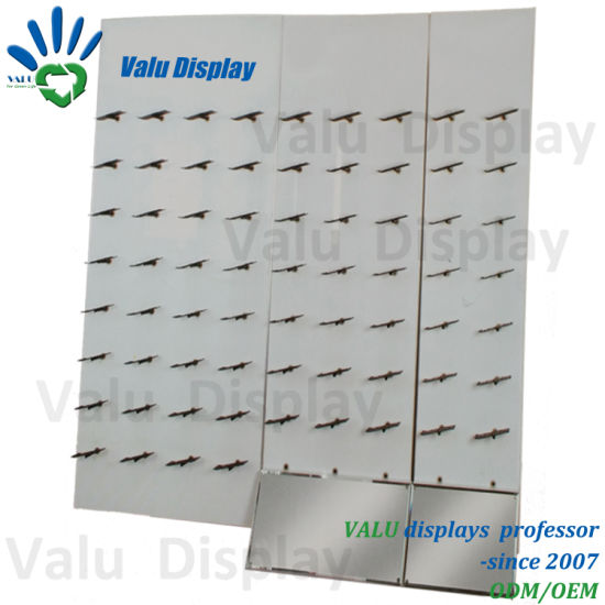 China Wall Mounted Retail Display Shoes Panel Board Shelf Stainless