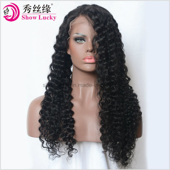 180% Density 360 Lace Frontal Wig Pre Plucked with Baby Hair Brazilian Remy  Curly Lace Front Human Hair Wigs for Women da2572e424