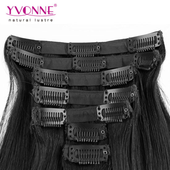 100% Remy Human Hair Clip in Hair Extensions pictures & photos
