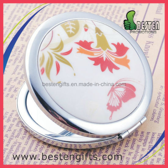 Fashion Wholesale PU Leather Portable Convenient Small Pocket Makeup Mirror