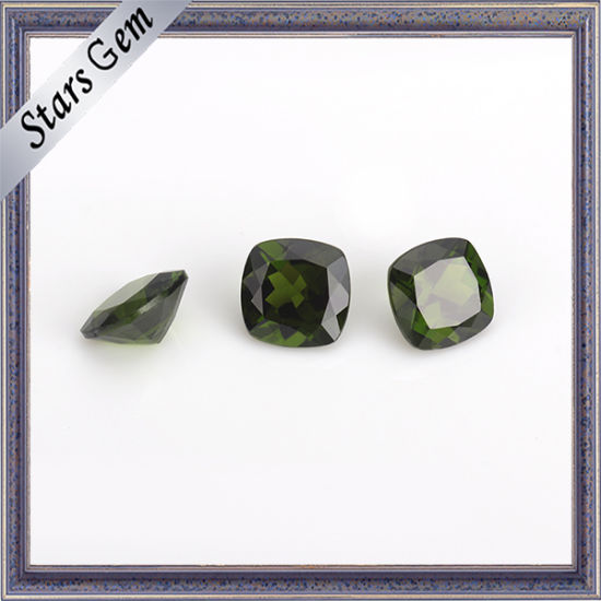 baf1cbf3f China Olive Clear Green 5X5mm Cushion Cut Natural Diopside Gemstone ...